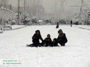 شادمانی بچه ها در برف