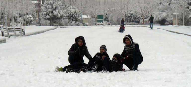 حال و هوای برفی تهران