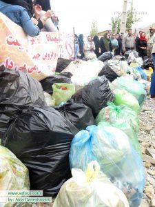 عکس دسته جمعی بعد از جمع آوری زباله ها