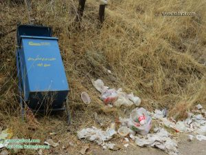 زباله های رها شده در طبیعت