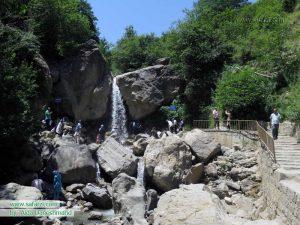نمایی از آبشار کوشم ماسوله