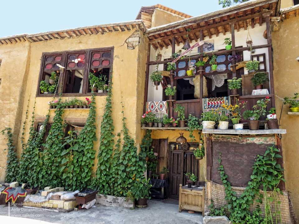 نمایی زیبا از خانه ای روستایی در ماسوله